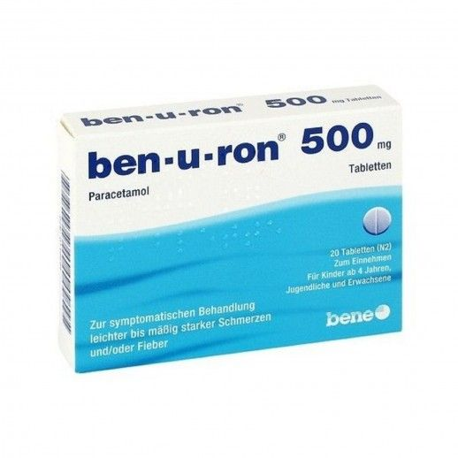 Ben-u-ron x20 Tablets | 500mg