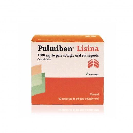 Pulmiben Lisina x40 Pó Sol Oral Sac | 1500mg