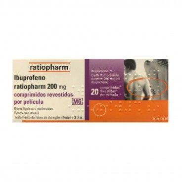 Ibuprofeno Ratiopharm x20 Comp Rev | 200mg