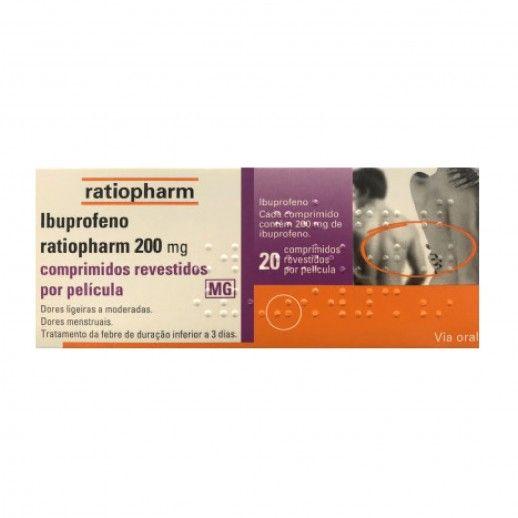 Ibuprofeno Ratiopharm x20 Coated Tablets | 200mg