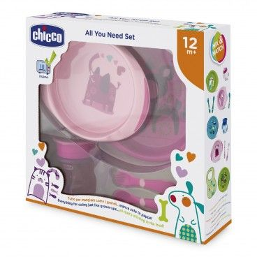 Chicco Food Set Pink | 12m+