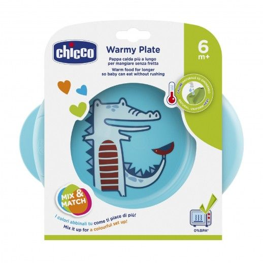 Chicco Blue Thermal Plate | 6m+