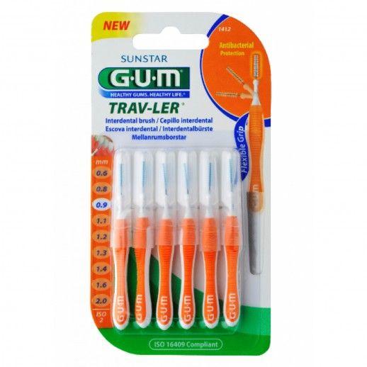 Gum Trav-Ler Interdental Brush Fino   x6