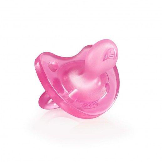 Chicco Chupeta Silicone Physio Soft Rosa | 6-12M