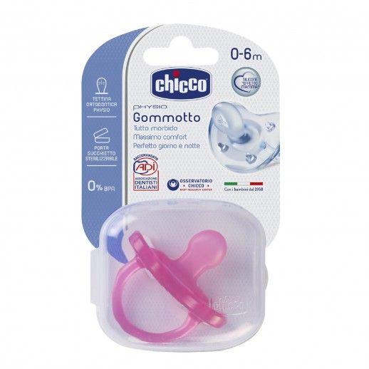 Chicco Chupeta Silicone Physio Soft Rosa | 0-6M