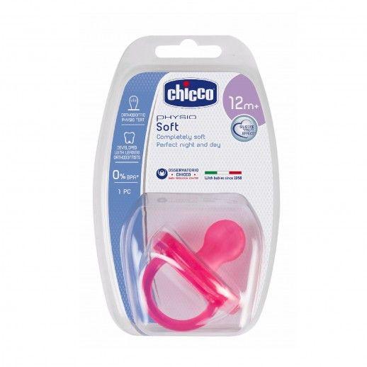 Chicco Chupeta Silicone Physio Soft Rosa | 12M+