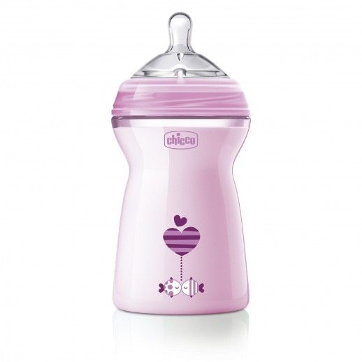 Chicco Nat Feel Bottle 330mL | 6M+