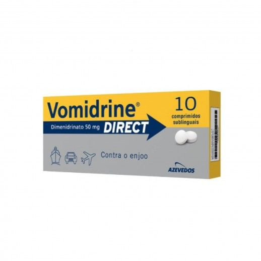Vomidrine Direct x10 Subl Tablets | 50mg