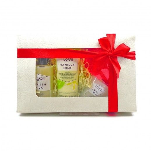 Vanilla Coffret Shower Gel + Hand Cream + Candle