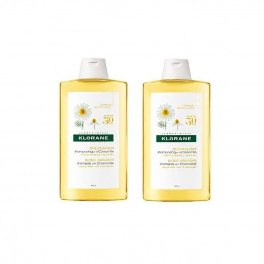 Klorane Dual Chamomile Shampoo | 2x400mL