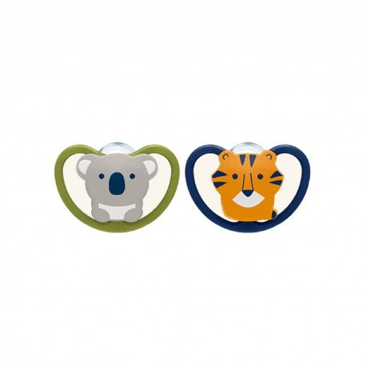 Nuk Space x2 Silicone Pacifier | 0-6M