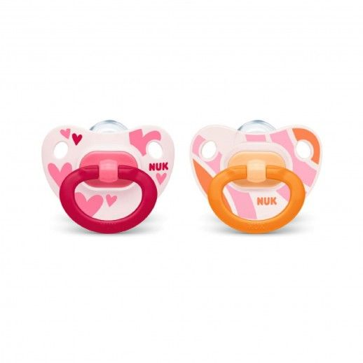 Nuk x2 Silicone Pink Pacifier | 18-36M