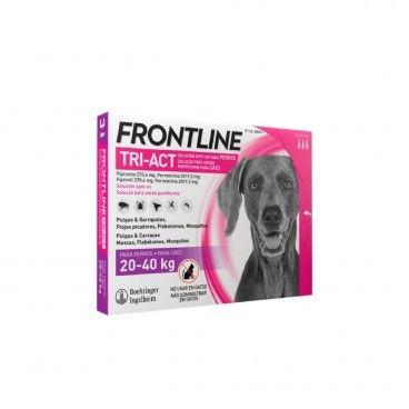 Frontline Tri-Act Cão 20-40Kg 3x4mL