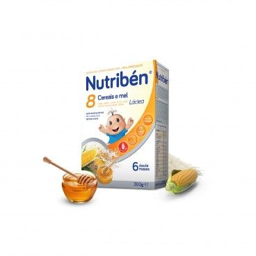Nutribén Flour 8 Cereals Honey Cookie Milky | 300g