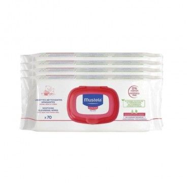 Mustela Cleaning Towels without / Perfume 4x70 units   4x70 unit