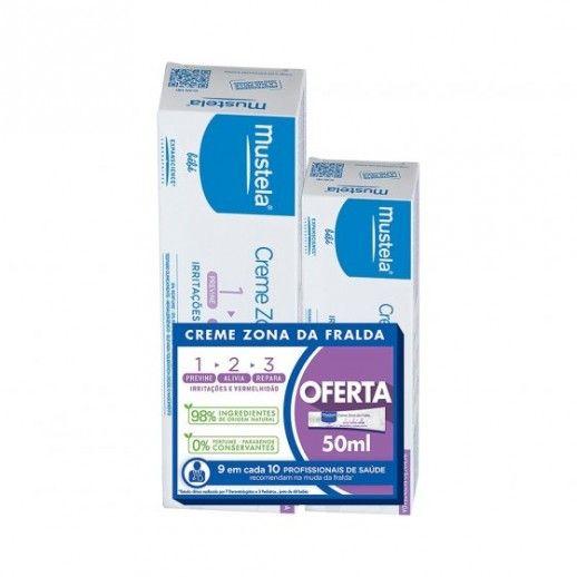Mustela Muda Diaper Cream Diaper Zone 1>2>3   100ml with 2nd Package Offer 50   mL